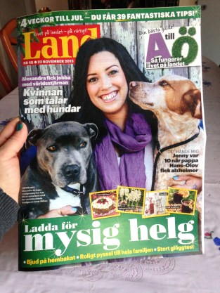 Tidningen Land, fredag 29/11 2013.